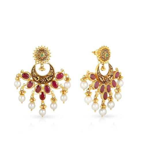 Telugu Bride Precia Gemstone Earring STPRHDOSHIA006