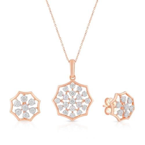 Mine Diamond Pendant Set USMGNFLC180PN5