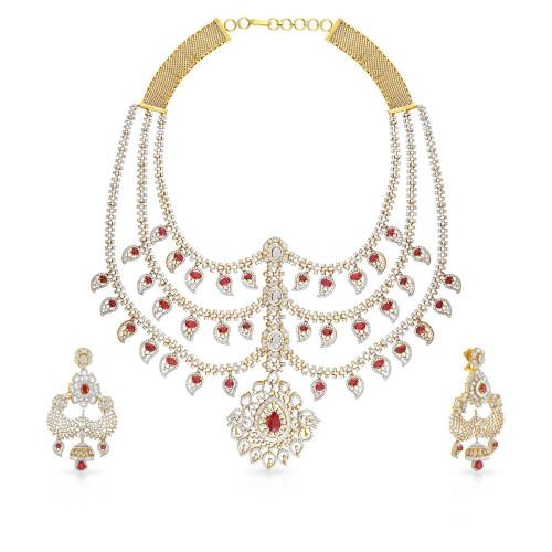Mine Diamond Necklace Set USNKMBDINB212NK2