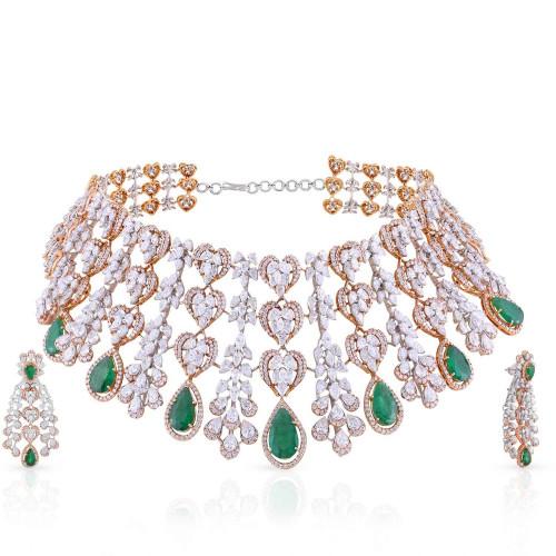 Mine Diamond Necklace Set USNKMNBDNK2219