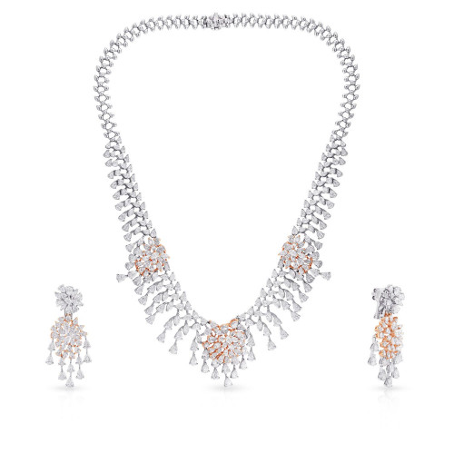 Mine Diamond Necklace Set USNKMNBDNK2220