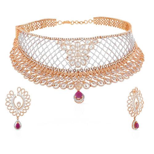 Mine Diamond Necklace Set USNKMNBDNK2723