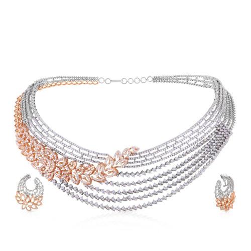 Mine Diamond Necklace Set USNKMNBDNK3415
