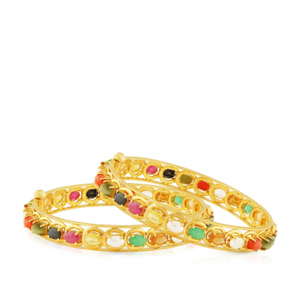 Precia Gemstone Bangle Set BSPGNTRA216BN8