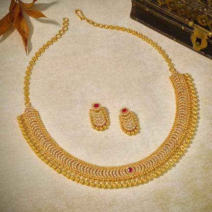 Era Uncut Diamond Gold Necklace Set NSEA2AKT20NK002