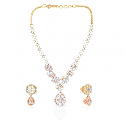 Mine Diamond Necklace Set NSMBDINB326NK2