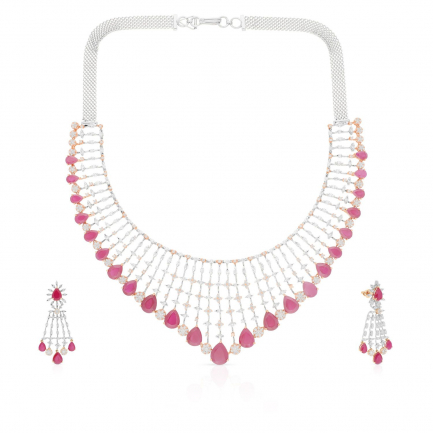 Mine Diamond Necklace Set NSMBDINB329NK2