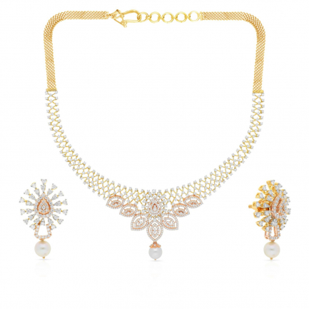 Mine Diamond Necklace Set NSMNBDNK0189