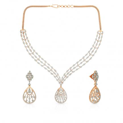 Mine Diamond Necklace Set NSMZIAZIA001NK2