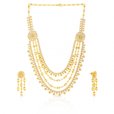 Era Uncut Diamond Necklace Set NSNK0035090