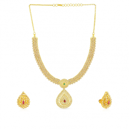 Era Uncut Diamond Necklace Set NSNKPGNK14524