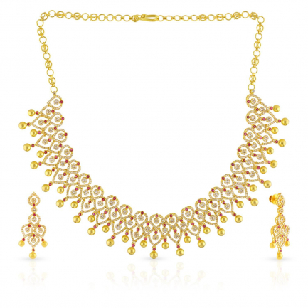 Era Uncut Diamond Necklace Set NSNKRJNS92061