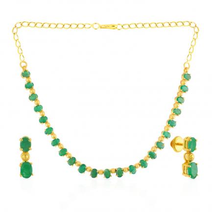 Precia Gemstone Necklace Set NSPGNFLG472NK2