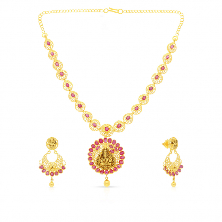 Precia Gemstone Necklace Set NSPGNTRA1062NK2