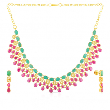 Precia Precious Necklace Set NSPGNTRA668NK2