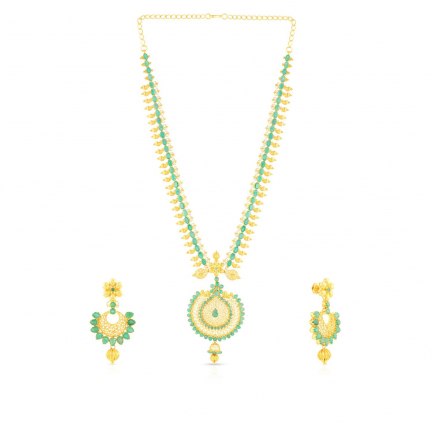 Precia Gemstone Necklace Set NSPJTDLGNK34