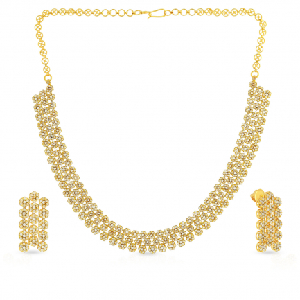 Era Uncut Diamond Necklace Set NSUSETRDPTA003NK2