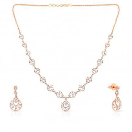 Mine Diamond Necklace Set NSUSNK120410