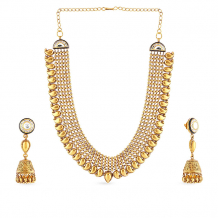 Ethnix Gold Necklace Set NSUSNS014668