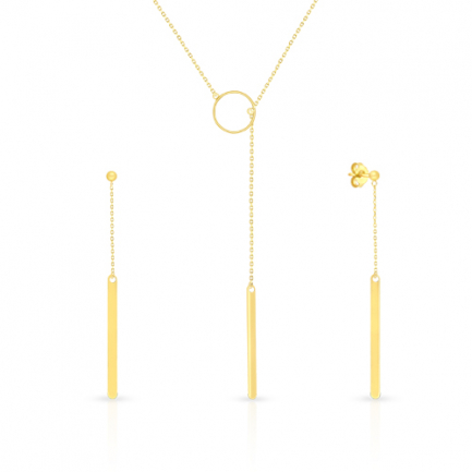 Malabar Gold Necklace Set NSZOFSHNK001