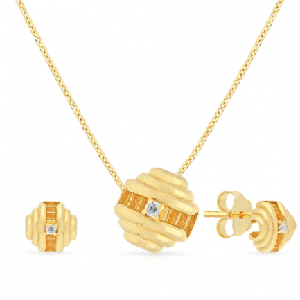 Malabar Gold Necklace Set NSZOFSHNK009