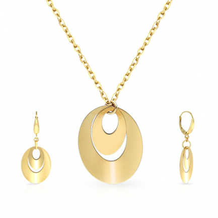Malabar Gold Necklace Set NSZOFSHNK032