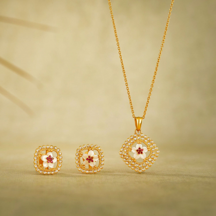 Era Uncut Diamond Gold Pendant Set PSEA5AKT20PN002