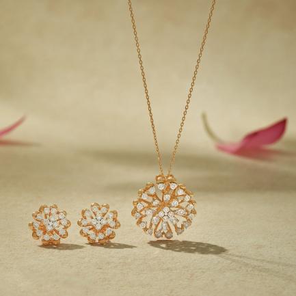 Mine Diamond Gold Pendant Set PSMN5AKT20PN002