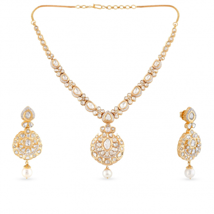 Era Uncut Diamond Necklace Set USETRDPLK033NK2