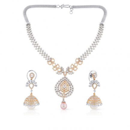 Mine Diamond Necklace Set USMNBDNK2619