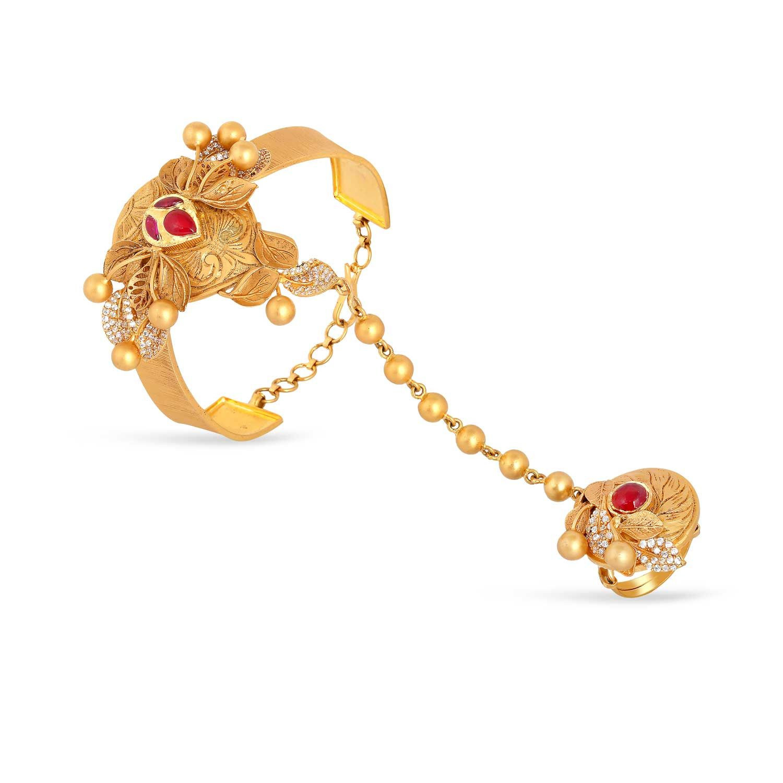 Gujarati Bride Ethnix Gold Bracelet AHDAAAAAIJXS