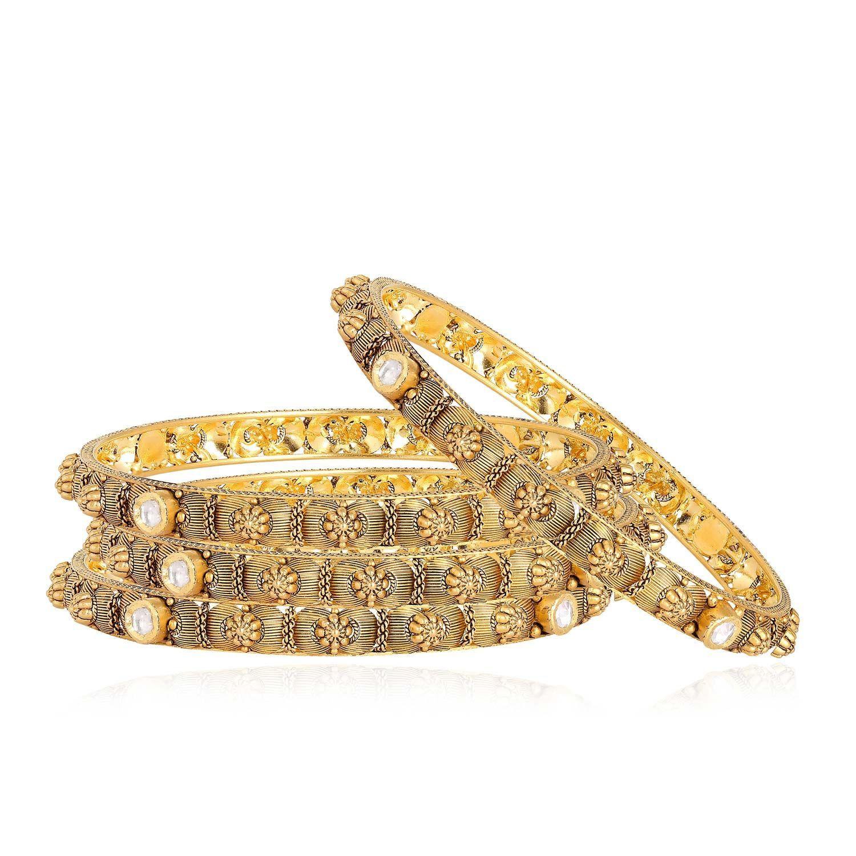 Gujarati Bride Ethnix Gold Bangle Set BSBAGEANKDHNA141