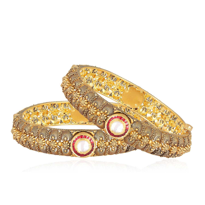 Gujarati Bride Ethnix Gold Bangle Set BSBAGEANKDHSA002