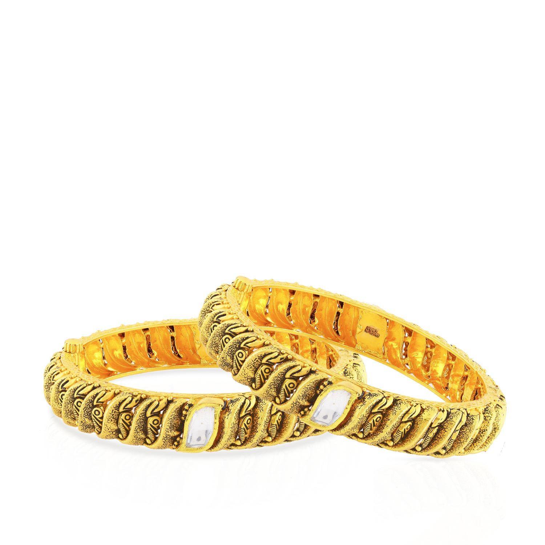 Ethnix Gold Bangle Set BSUSBG016927