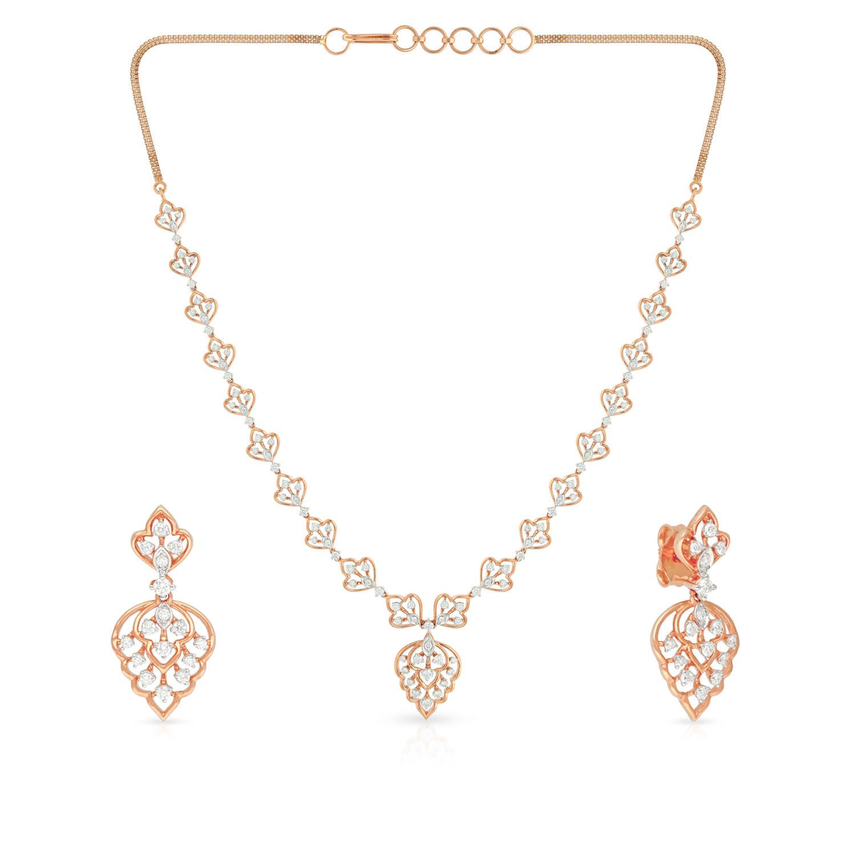 Mine Diamond Necklace Set NSMGNGEN088NK2