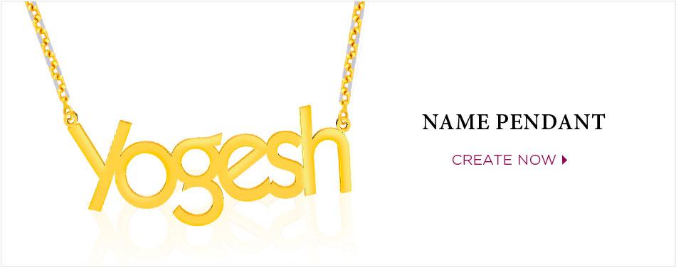 Personalised Name Pendant